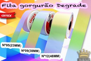 Fita gorgurão estampa Degrade  Gitex® N˚05 / 09 / 12