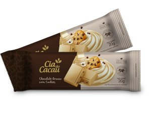 BARRA CHOCOLATE BRANCO COM COOKIES 20g
