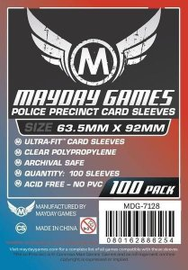 "Sleeves Mayday ""Police Precinct"" Card Sleeves - Ultra Fit (63.5x92mm) - Standard Protection (100 sleeves per pack)"