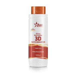 Magic Color Gloss Matizador 3D Ruivo Sensation Efeito Ruivo Intenso - 500ml