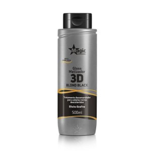 Magic Color Gloss Matizador 3D Blond Black Efeito Grafite - 500ml