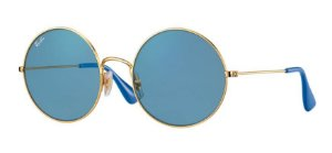 Ray Ban JA JO - Lentes Azul-Claro/Light Blue - Armação Bronze - RB3592 001/F7 55-20