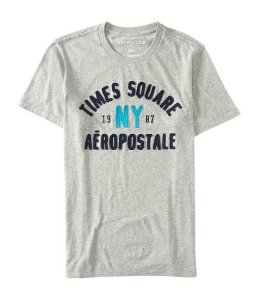 Camiseta Aéropostale masculina Times Square Logo Graphic T Cinza