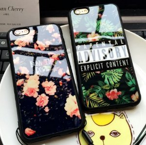 Capinha Iphone - Flower PARENTAL ADVISORY