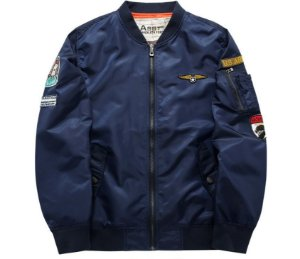 Jaqueta Bomber Military - Blue Navy