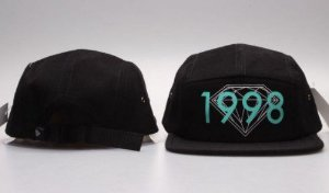 Boné 5 Panel Diamond Supply CO. - 1998 Aqua