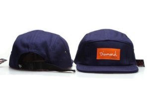 Boné 5 Panel Diamond Supply - Azul / Laranja