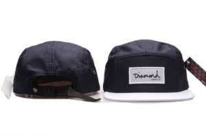 Boné 5 Panel Diamond Supply - Azul Escuro / Branco