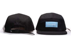 Boné 5 Panel Diamond Supply - Preto / Azul