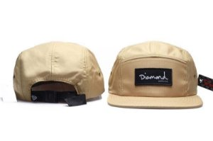 Boné 5 Panel Diamond Supply - Bege / Preto