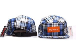 Boné 5 Panel Diamond Supply - Xadrez / Azul