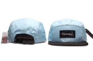 Boné 5 Panel Diamond Supply - Azul Claro / Preto