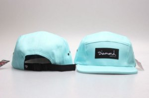 Boné 5 Panel Diamond Supply - Azul Claro Com Preto