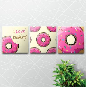 Placas Decorativas Love Donuts