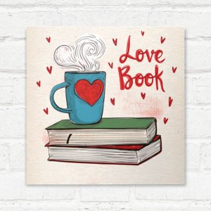Placa Decorativa Love Book