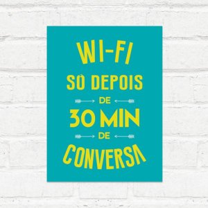Placa Decorativa Wifi Conversa