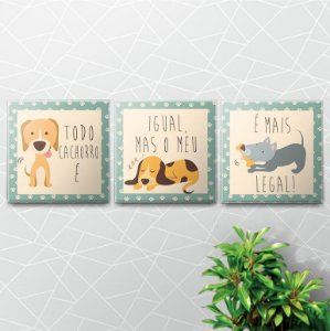 Placas Decorativas Dog Lovers