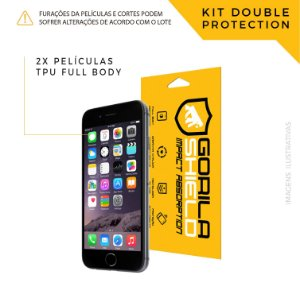 Película Full Coverage Frontal para iPhone 6S – Double Protection – Gorila Shield