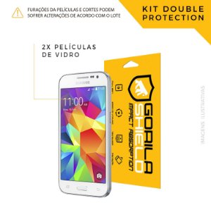 Película de vidro para Galaxy Win 2 – Double Protection – Gorila Shield