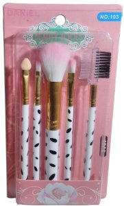 Kit De Pincel Para Maquiagem 5 Pcs Fashion Brush Set Daniel