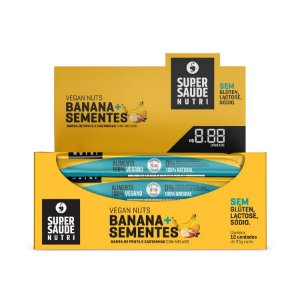 Barras Nuts Banana + Sementes - Display com 12 unidades