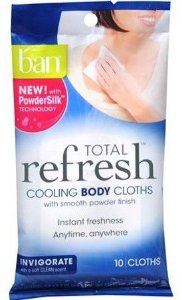 BAN TOTAL REFRESH COOLING BODY CLOTHS INVIGORATE 10 UNIDADES