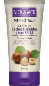 NICK & VICK NUTRI HAIR CACHOS DEFINIDOS E SEM FRIZZ LEAVE IN 150ML