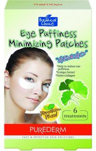 PUREDERM EYE PUFFINESS MINIMIZING PATCHES GINKGO C/6 - ADESIVO REDUTOR INCHAÇO OLHOS