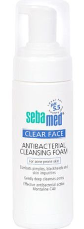 SEBAMED Clear Face Antibacterial Cleansing Foam Espuma de Limpeza 150ml