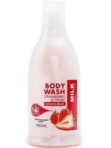 NIR Body Wash Strawberries & Cream 490ml