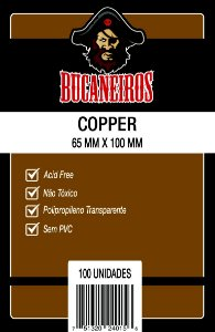 Sleeves Bucaneiros 65 x 100 MM (COPPER) - 100 Unidades