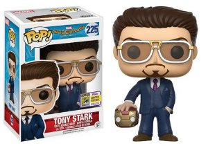 Funko Pop Vinyl Tony Stark com Máscara - Spider Man Homecoming - Edição SDCC Comic Con 2017