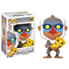 Funko Pop Disney O Rei Leão - Rafiki With Simba