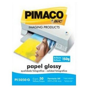 PAPEL PHOTO A4 BRILH.GLOSSY 150G PI5050G 50F J.TINTA