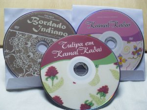 Kit com 3 DVDs bordado Indiano