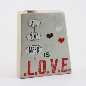 """Vaso Mesa/Parede """"All you need is love"""""""