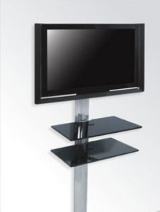 Rack Airon Simply 45/2 TI BLACK GLASS BLACK