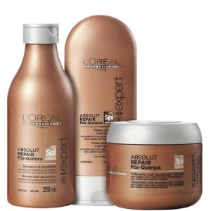Kit Pós-Química Multi-reconstrutor Intensivo - L'Oréal Professionnel Absolut Repair (3 Produtos)