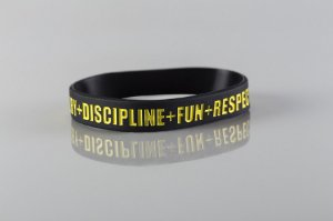 Pulseira Valores do Rugby - Black and Gold