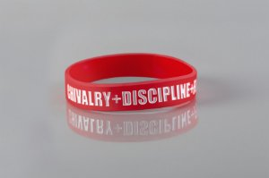 Pulseira Valores do Rugby - Red and White