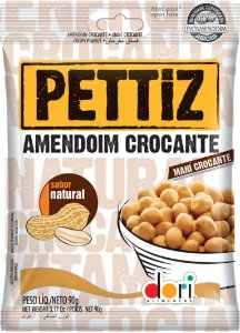 Amendoim Crocante Pettiz Natural 15Og