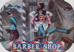 Placa Decorativa Retrô - Barber Shop Crazy