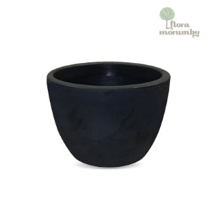 VASO VERONA 70 X 52CM - ANTIQUE PRETO