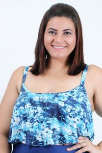 Top Cropped Floral Plus Size