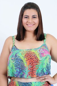 Top Cropped babado Pavao Plus Size