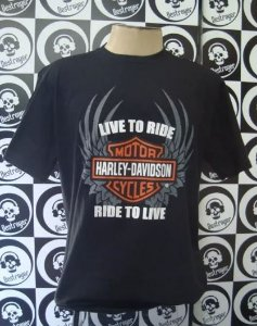 Camiseta Harley Davidson - Live to Ride, Ride to live