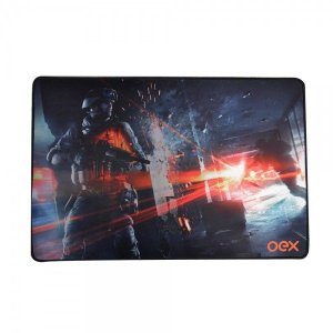 Mousepad Gamer Action Profissional OEX - Tecnologia Antiskid - Mousepad Battle MP301