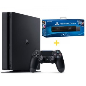 Console Playstation 4 Slim 500GB + Câmera Sony para Playstation 4 - Sony
