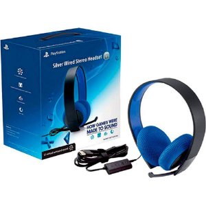 Headset Silver Wired Elite Stereo 7.1 - Ps3/Ps4