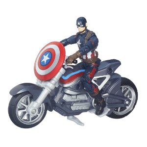 Boneco Capitão América com Moto Guerra Civil Marvel Legends Series - Hasbro